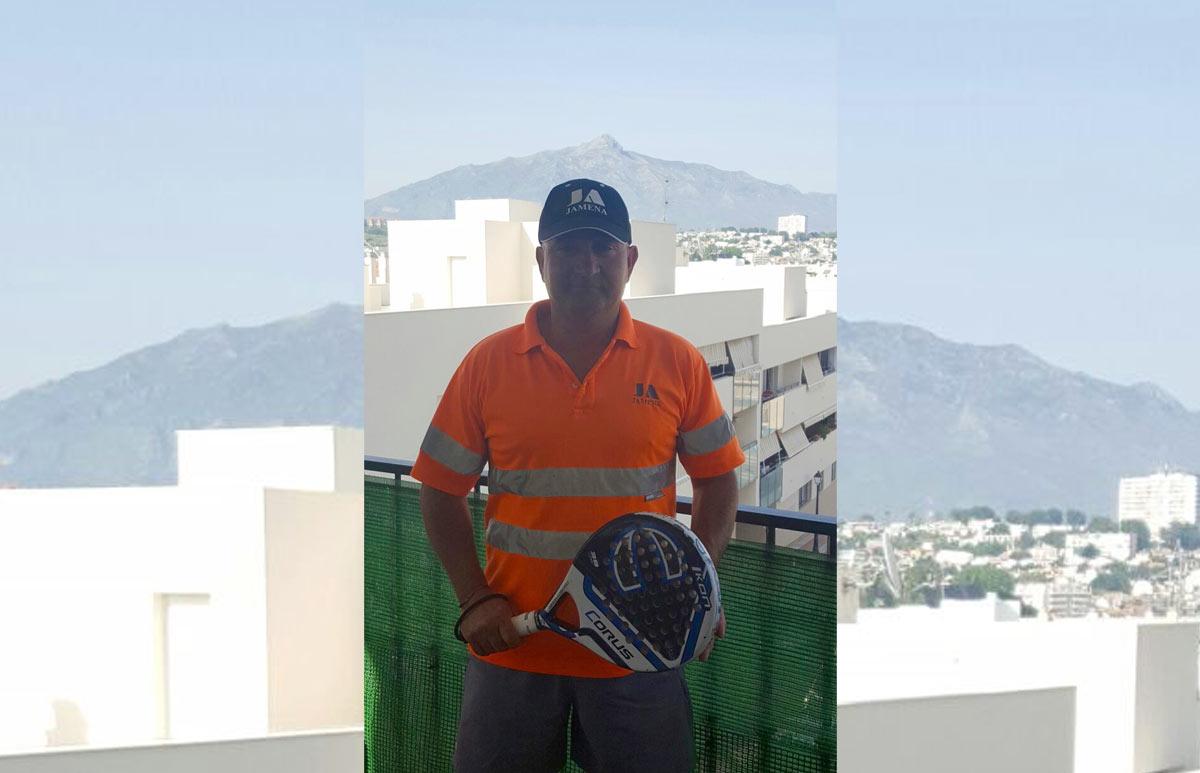 Juan José Merchán en el Torneo de Padel de Supera San Pedro